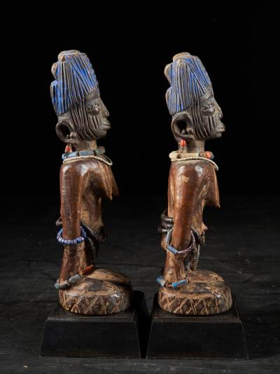 Rare pair of very old Yoruba Ibeji Figures