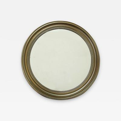 Rare solid brass round looking glass