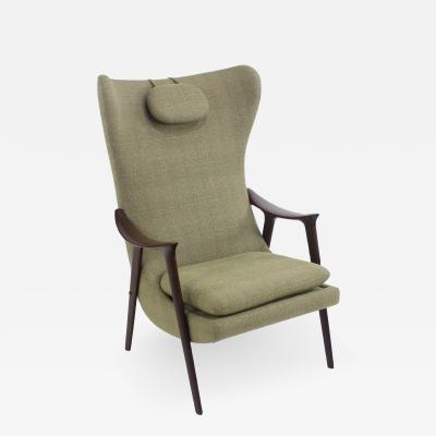 Rastad Relling Rare Scandinavian Modern Solist Armchair Designed by Relling Rastad