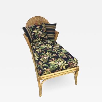 Rattan Art Deco Handmade Chaise Lounge