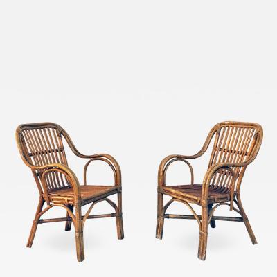 Rattan armchairs 1960s