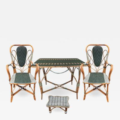 Rattan winter garden set France circa 1920