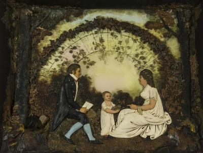 John Christian Rauschner Group Portrait of a Father Mother and Child in a Park 1810