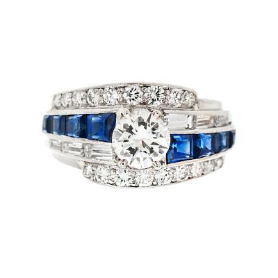 Raymond C Yard Diamond Sapphire Ring