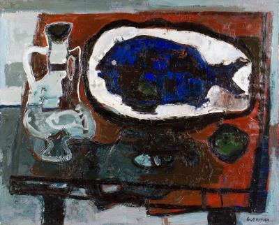 Raymond Guerrier P 02 Dorade Bleue Painting by Raymond Guerrier