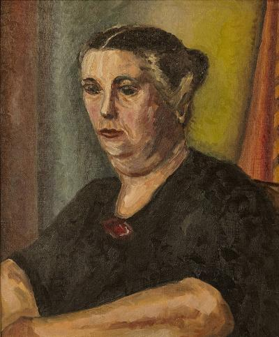 Raymond J Wendell Mother 1948 Raymond Wendell Oil on Canvas