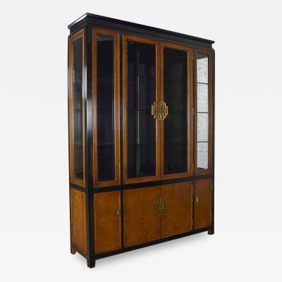Raymond Karl Sobota Large chin hua china display cabinet or bookcase by raymond k sobota