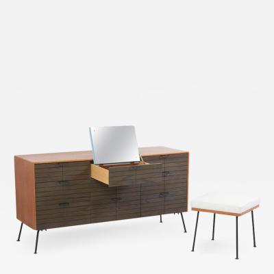 Raymond Loewy Dresser with Stool by Raymond Loewy for Mengel Furniture Company Us 1950s