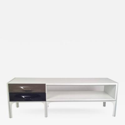 Raymond Loewy Mid Century Modern Standing Low Two Sided Cabinet Coffee Table