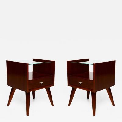 Raymond Loewy Pair of Mid Century Modern Nightstands by Mengel Raymond Loewy