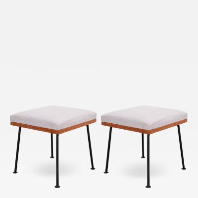 Raymond Loewy Pair of Raymond Loewy Stools for Mengel Furniture Co USA 1950s