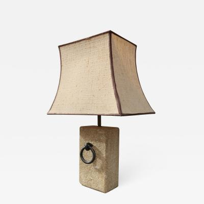 Raymond Subes An stone table lamp in the style of Raymond Subes France 50