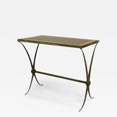 Raymond Subes French Art Deco Green Patinated Bronze End Table