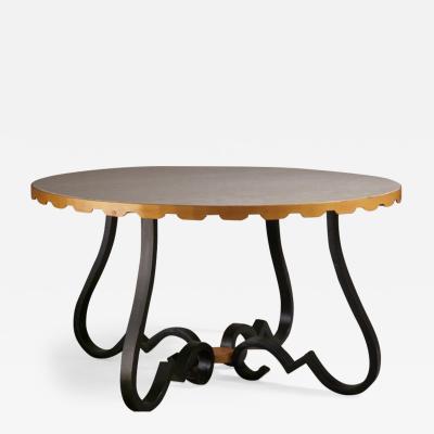 Raymond Subes Raymond Subes Forged Iron Coffee Table