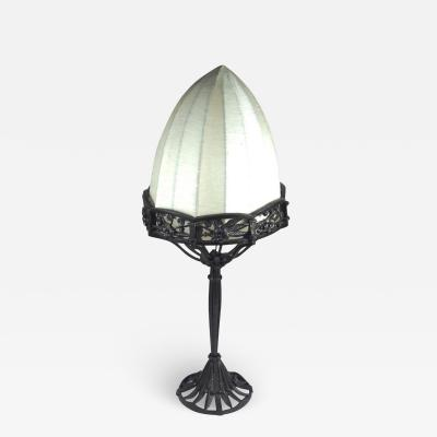 Raymond Subes Raymond Subes Forged Iron Table Lamp