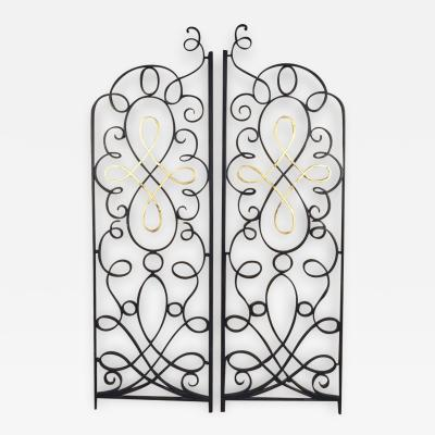 Raymond Subes Raymond Subes Pair of Iron and Gilt Grilles Gate