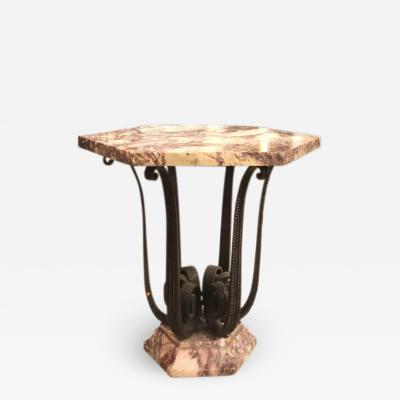 Raymond Subes Raymond Subes exceptional wrought iron coffee table or center table