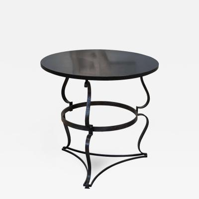 Raymond Subes Steel and Marble Top Table