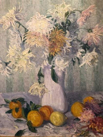 Raymond Thibesart Chrysanthemums and Fuit