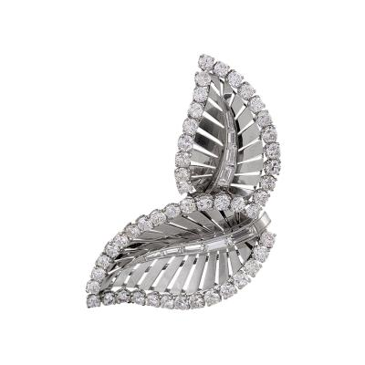 Raymond Yard Mid 20th Century Diamond and Platinum Brooch