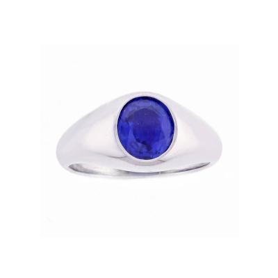 Raymond Yard Raymond Yard Natural A G L Unheated Burma Sapphire Platinum Ring