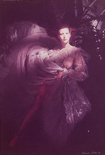 Rebecca Blake Model in Organza Gown