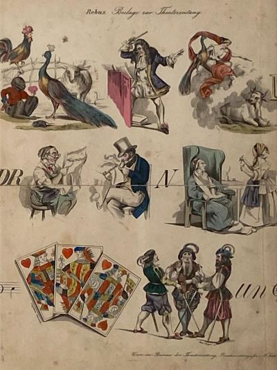 Rebus Picture Puzzel Germany 19th Century