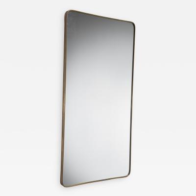 Rectangular Italian brass mirror 1950s