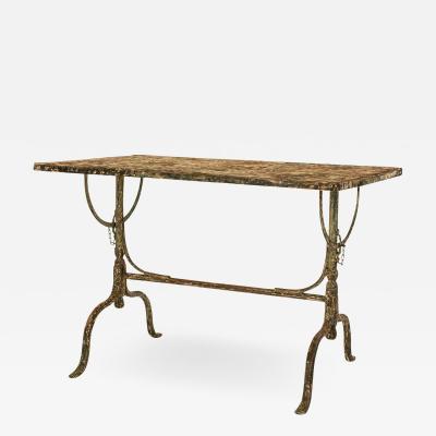 Rectangular Painted Iron Tilt Table