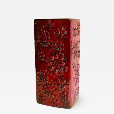 Red Mid Century Vase