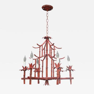 Red Pagoda Chandelier