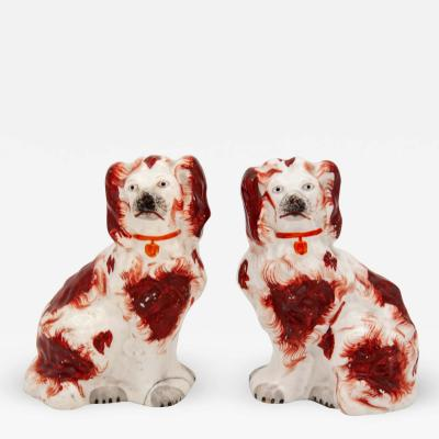 Red White Staffordshire Dogs