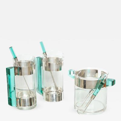 Rede Guzzini Vintage Rede Guzzini 2 Jug Martini Set with Ice Bucket Wine Chiller