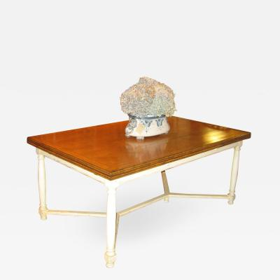 Refectory Table with Painted Base