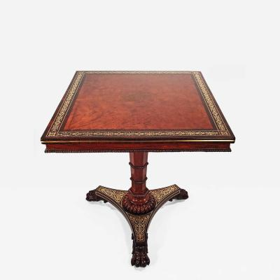 Regency Amboyna and Rosewood Occasional Table
