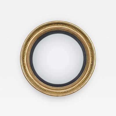 Regency Giltwood Convex Mirror Circa 1810