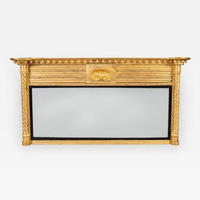 Regency Giltwood Ovemantle Mirror