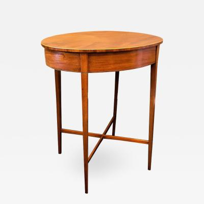 Regency Mahogany Oval Side Table Stand Circa 1795 England