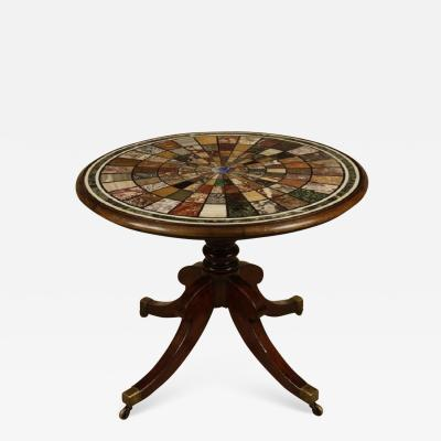 Regency Mahogany and Specimen Marble Grand Tour Centre Table