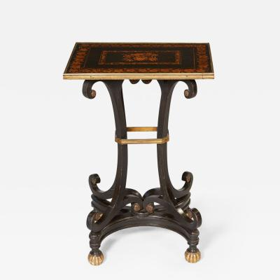 Regency Penwork Table