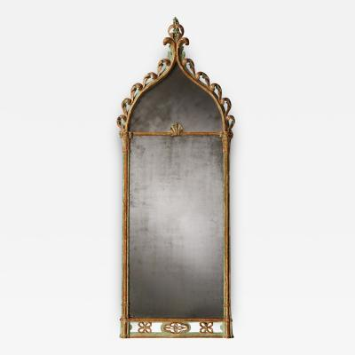 Regency Period Antique Mirror In the Gothic Style with Original Decoration