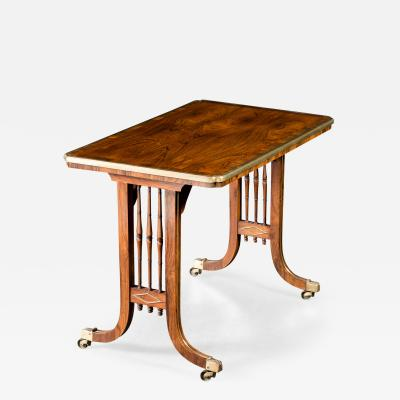 Regency Rosewood Brass Inlaid Side Table