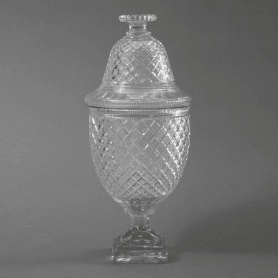 Regency Strawberry Diamond Cut Colorless Glass Fruit Cooler