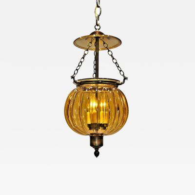 Regency Style Pumpkin Shaped Lantern