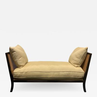 Regency Style Upholstered Cane Daybed
