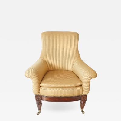 Regency Upholstered Armchair of Large Size