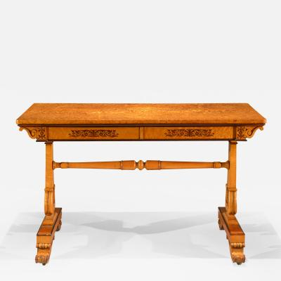 Regency two drawer writing table
