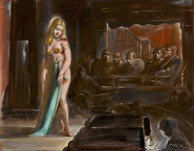 Reginald Marsh Burlesque Queen