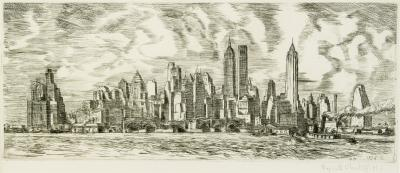 Reginald Marsh New York Skyline