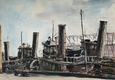 Reginald Marsh Tugboat
